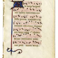Leaf from a French Processional
