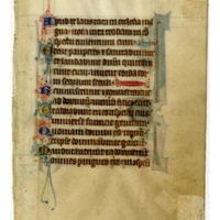 E0020 Leaf from a Psalter (Psalterium)