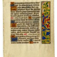 E0048 Leaf from a Book of Hours (Horæ Beatæ Mariæ Virginis)