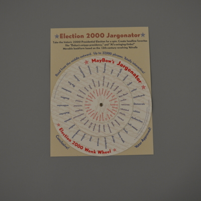 MayBow's Jargonator: Election 2000 Wonk Wheel