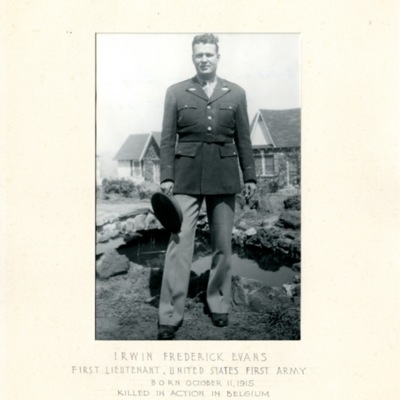 Evans, Irwin Frederick, 1ST LT