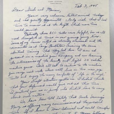 Ralphe Vawter Letter