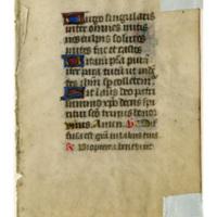 E0036 Leaf from a Book of Hours (Horæ Beatæ Mariæ Virginis)