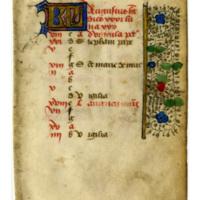 Kalendar Leaf from Book of Hours