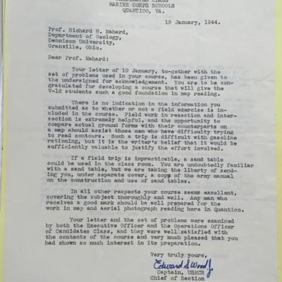 Quantico Letter to Mahard