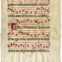 E0110 Leaf from an Italian Antiphonal