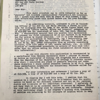 Informal Letter to Colonel Northrup