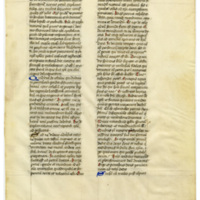 E0035 Leaf from the Writings of St. Jerome (Sanctus Hieronymus, Contra Jovinianum)