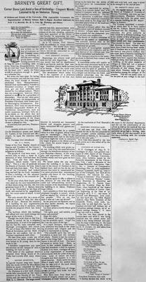 Barney Dedication 1893